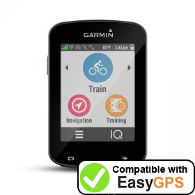 Download your Garmin Edge 820 waypoints and tracklogs for free with EasyGPS