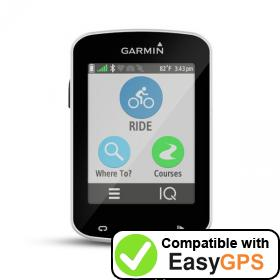 Download your Garmin Edge Explore 820 waypoints and tracklogs for free with EasyGPS