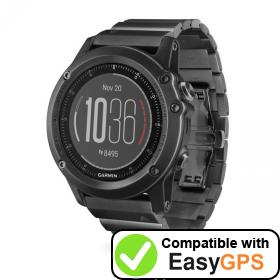 Download your Garmin fēnix 3 HR waypoints and tracklogs for free with EasyGPS