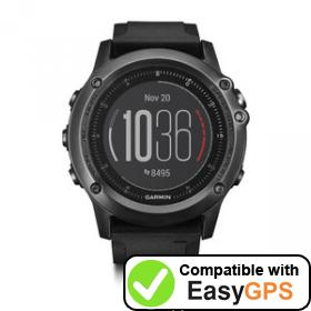 Download your Garmin fēnix 3 Sapphire HR waypoints and tracklogs for free with EasyGPS