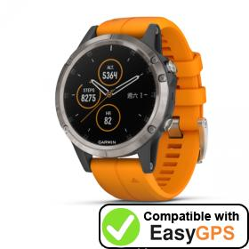 Download your Garmin fēnix 5 Plus waypoints and tracklogs for free with EasyGPS