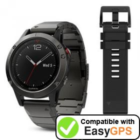 Download your Garmin fēnix 5 waypoints and tracklogs for free with EasyGPS