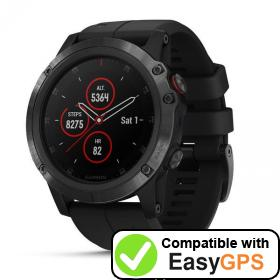 Download your Garmin fēnix 5X Plus waypoints and tracklogs for free with EasyGPS