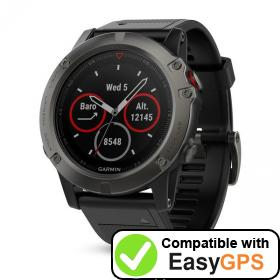 Download your Garmin fēnix 5X waypoints and tracklogs for free with EasyGPS