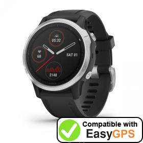 Download your Garmin fēnix 6S waypoints and tracklogs for free with EasyGPS