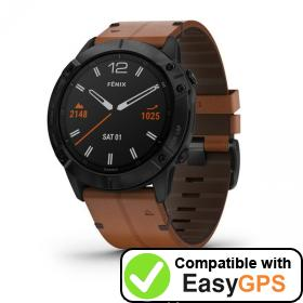 Download your Garmin fēnix 6X waypoints and tracklogs for free with EasyGPS
