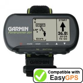Download your Garmin Forerunner 201 waypoints and tracklogs for free with EasyGPS