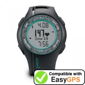 Download your Garmin Forerunner 210 waypoints and tracklogs for free with EasyGPS