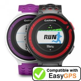 Download your Garmin Forerunner 220 waypoints and tracklogs for free with EasyGPS