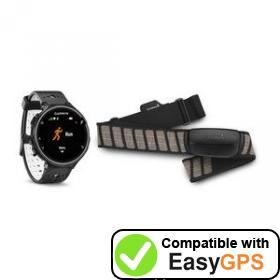 Download your Garmin Forerunner 230 waypoints and tracklogs for free with EasyGPS
