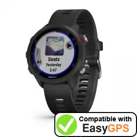 Download your Garmin Forerunner 245 Music waypoints and tracklogs for free with EasyGPS
