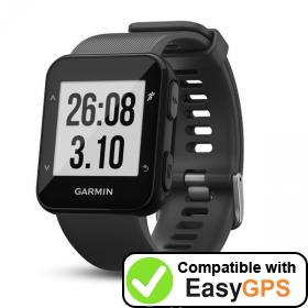 Download your Garmin Forerunner 30 waypoints and tracklogs for free with EasyGPS