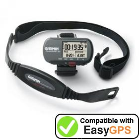Download your Garmin Forerunner 301 waypoints and tracklogs for free with EasyGPS