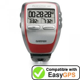 Download your Garmin Forerunner 305 waypoints and tracklogs for free with EasyGPS