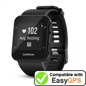 Download your Garmin Forerunner 35 waypoints and tracklogs for free with EasyGPS