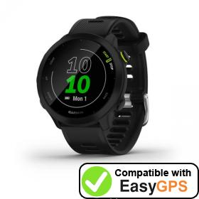 Download your Garmin Forerunner 55 waypoints and tracklogs for free with EasyGPS