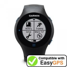 Download your Garmin Forerunner 610 waypoints and tracklogs for free with EasyGPS