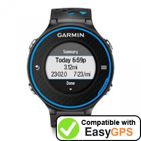 Download your Garmin Forerunner 620 waypoints and tracklogs for free with EasyGPS