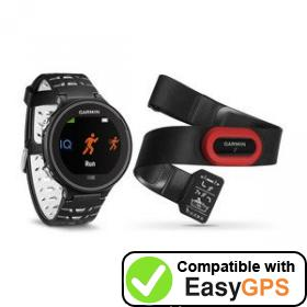 Download your Garmin Forerunner 630 waypoints and tracklogs for free with EasyGPS