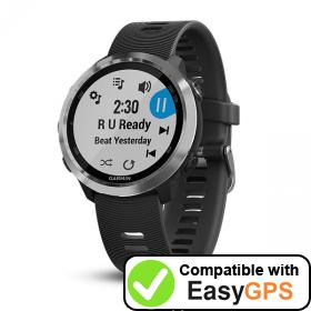Download your Garmin Forerunner 645 Music waypoints and tracklogs for free with EasyGPS
