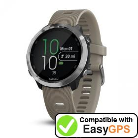 Download your Garmin Forerunner 645 waypoints and tracklogs for free with EasyGPS