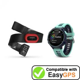 Download your Garmin Forerunner 735XT waypoints and tracklogs for free with EasyGPS