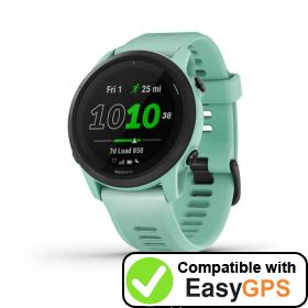 Download your Garmin Forerunner 745 waypoints and tracklogs for free with EasyGPS