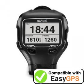 Download your Garmin Forerunner 910XT waypoints and tracklogs for free with EasyGPS