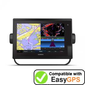 Download your Garmin GPSMAP 1222 Plus waypoints and tracklogs for free with EasyGPS