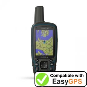 Download your Garmin GPSMAP 64x waypoints and tracklogs for free with EasyGPS