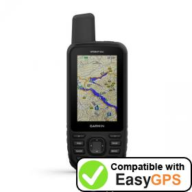 Download your Garmin GPSMAP 66st waypoints and tracklogs for free with EasyGPS