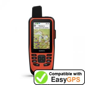 Download your Garmin GPSMAP 86i waypoints and tracklogs for free with EasyGPS