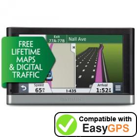 Download your Garmin nüvi 2598LMT-D waypoints and tracklogs for free with EasyGPS