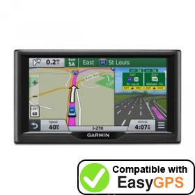 Download your Garmin nüvi 67 waypoints and tracklogs for free with EasyGPS
