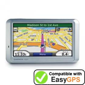 Download your Garmin nüvi 750 waypoints and tracklogs for free with EasyGPS