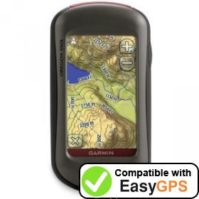 Download your Garmin Oregon 550t waypoints and tracklogs for free with EasyGPS