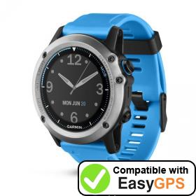Download your Garmin quatix 3 waypoints and tracklogs for free with EasyGPS