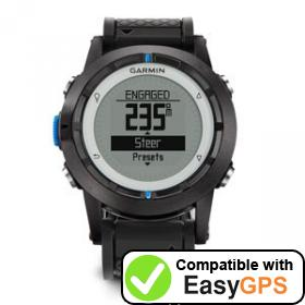 Download your Garmin quatix waypoints and tracklogs for free with EasyGPS