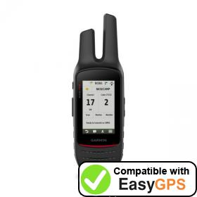 Download your Garmin Rino 750 waypoints and tracklogs for free with EasyGPS