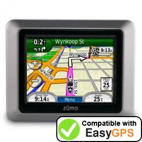 Download your Garmin zūmo 220 waypoints and tracklogs for free with EasyGPS