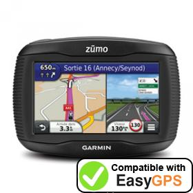 Download your Garmin zūmo 310 waypoints and tracklogs for free with EasyGPS