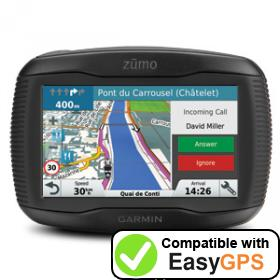 Download your Garmin zūmo 345LM waypoints and tracklogs for free with EasyGPS