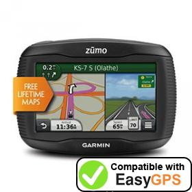 Download your Garmin zūmo 350LM waypoints and tracklogs for free with EasyGPS