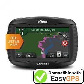Download your Garmin zūmo 390LM waypoints and tracklogs for free with EasyGPS