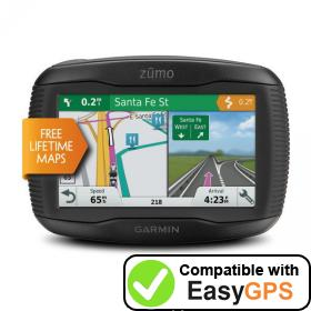 Download your Garmin zūmo 395LM Travel Edition waypoints and tracklogs for free with EasyGPS
