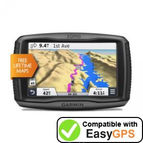 Download your Garmin zūmo 590LM waypoints and tracklogs for free with EasyGPS