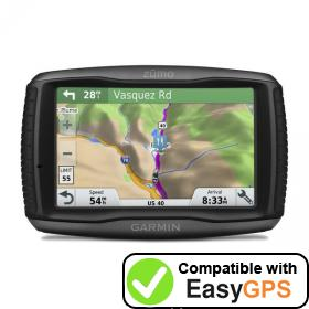 Download your Garmin zūmo 595LM waypoints and tracklogs for free with EasyGPS