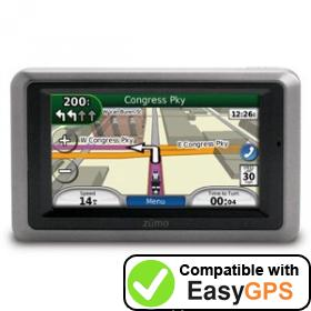 Download your Garmin zūmo 660 waypoints and tracklogs for free with EasyGPS
