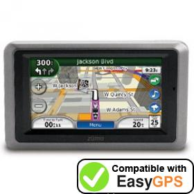 Download your Garmin zūmo 665 waypoints and tracklogs for free with EasyGPS