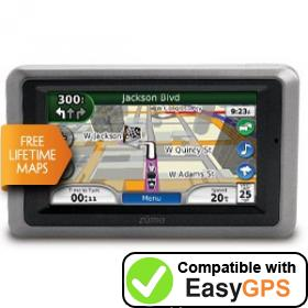 Download your Garmin zūmo 665LM waypoints and tracklogs for free with EasyGPS